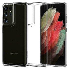 Husa Spigen Ultra Hybrid Crystal Clear pentru Samsung Galaxy S21 Ultra