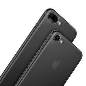 Husa Transparenta Baseus Mata pentru iPhone 7 Plus/iPhone 8 Plus Gunmetal