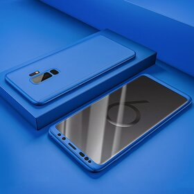 Husa Voero 360 din silicon cauciucat pentru Galaxy S9 Blue