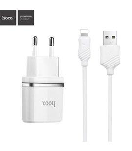 Incarcator HOCO 2.4A + cablu port Lightning