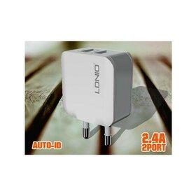 Incarcator retea Dual USB + cablu microUSB inclus
