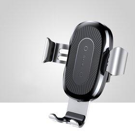 Incarcator wireless auto Baseus pentru Samsung si iPhone Silver