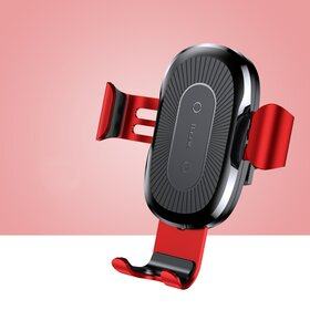 Incarcator wireless auto Baseus pentru Samsung si iPhone Red