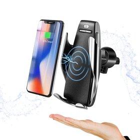 Incarcator wireless auto cu prindere automata pentru Samsung si iPhone