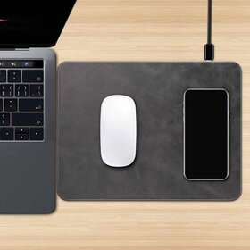 Incarcator wireless QI 2 in 1 cu mouse pad