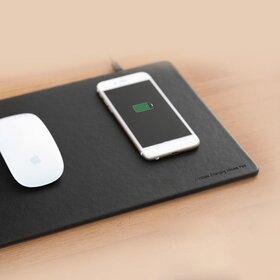 Mouse pad din piele ecologica cu incarcare wireless