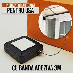 Inchizator automat de usi - Montare cu banda adeziva Black
