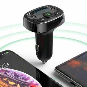 Modulator FM auto Baseus, functie Bluetooth, cu 2x USB si microUSB