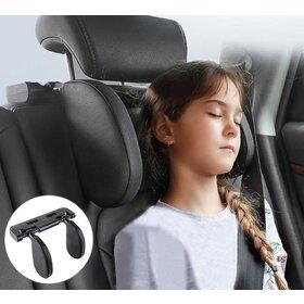Perna de dormit pentru masina cu atasare tetiera din piele ecologica