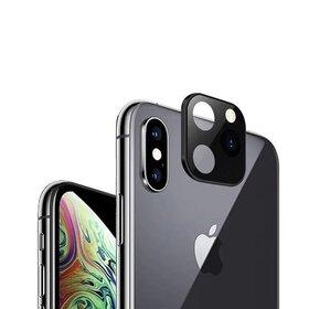 Protectie camera spate tempered glass negru pentru iPhone X / X / XS MAX  tip camera iPhone 11 Pro