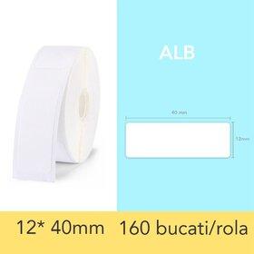 Rola de etichete albe pentru imprimanta termica wireless