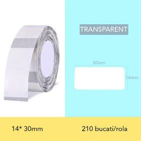 Rola de etichete transparente pentru imprimanta termica wireless