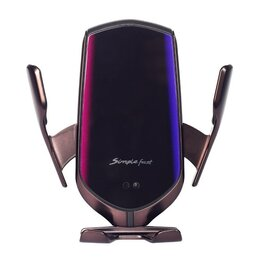 Suport auto cu incarcator wireless si senzor inteligent, USB, functie Fast Charge Coppery