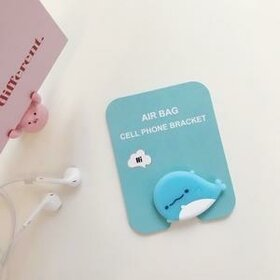 Suport stand adeziv pentru telefon model desen animat sub forma de Balena