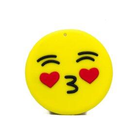 Suport stand adeziv pentru telefon model desen animat sub forma de Emoji Love Kiss