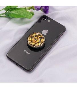 Suport stand adeziv pentru telefon model pietre aurii