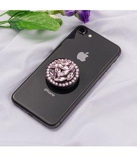 Suport stand adeziv pentru telefon model pietre roz