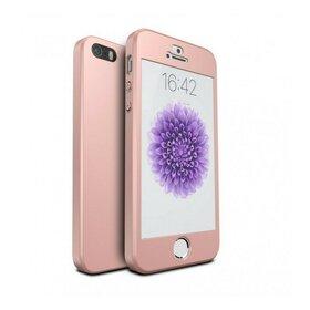 Husa 360 pentru iPhone 5/5s/SE Rose Gold