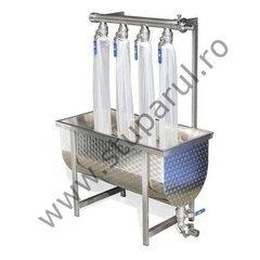 Bazin filtrare miere cu 4 iesiri