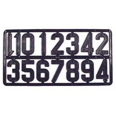Placa 15 cifre numerotat stupi