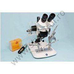 Instrument inseminare SCHLEY 1.01 cu instalatie anestezie, LED si microscop StereoBlue Zoom 10-45x