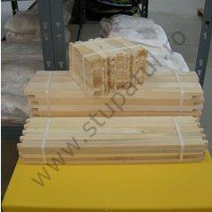 Rame stupi 1/2 tei pentru faguri plastic sau ceara pachet 25 buc, inaltime 146 mm