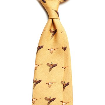 Challis Wool Hunting Tie - Yellow
