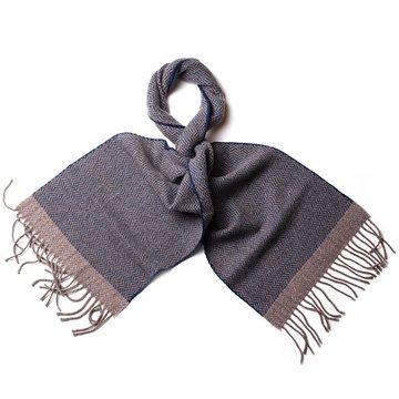 Chevron cashmere scarf