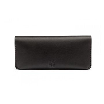 CLUTCH WALLET BLACK + Leather care