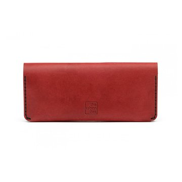 CLUTCH WALLET Bordeaux + Leather care
