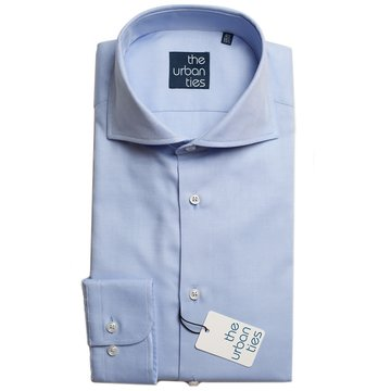 COTTON WIDE-SPREAD SHIRT - BLUE
