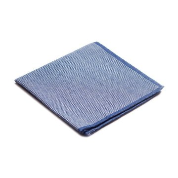 Denim wool pocket square