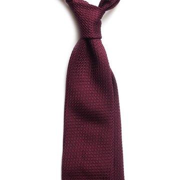 Garza Grossa Grenadine Silk Tie - Burgundy