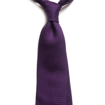 Garza Grossa Grenadine Silk Tie - Purple
