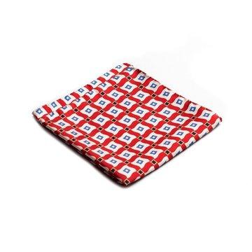 Geometric silk pocket square