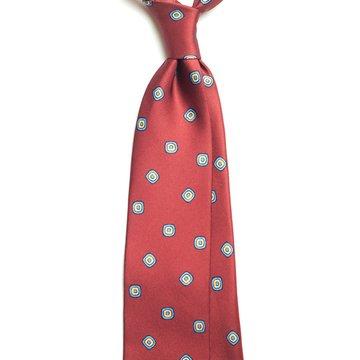 Geometric Silk tie - burgundy