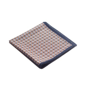 Geometric wool pocket square