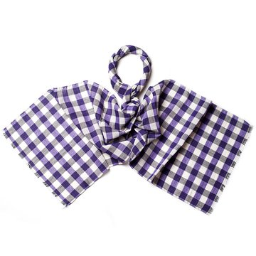 Gingham wool scarf