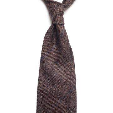 Glen Check wool tie