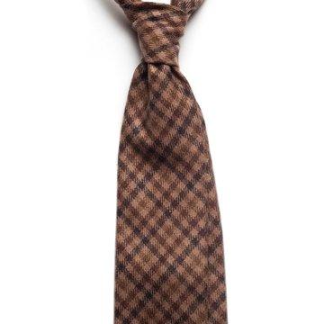 Gun Check cashmere tie