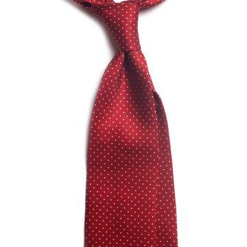 Handrolled 7-fold silk tie - burgundy