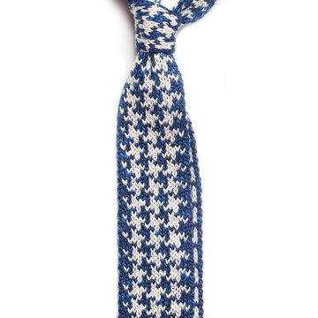 Knit cotton tie