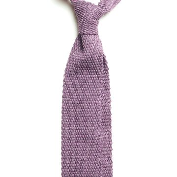 Knit silk tie - purple