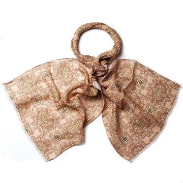 Floral linen scarf