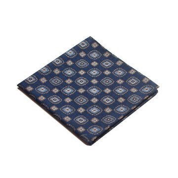 Medallion wool pocket square