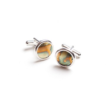 Metallic Rust Cufflinks