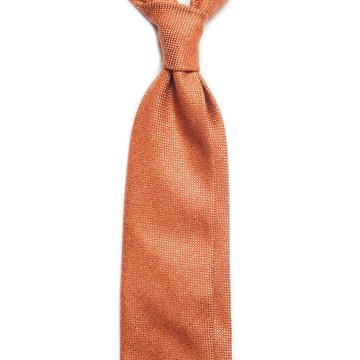 Pin check wool tie