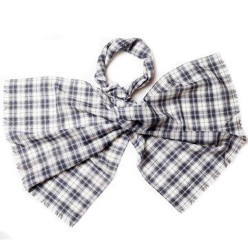 Plaid wool scarf