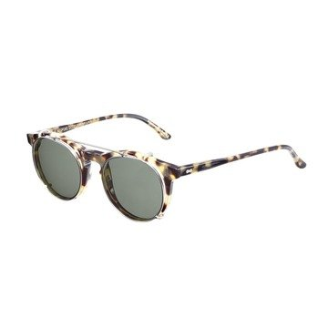 PLEAT LIGHT TORTOISE FRAME BOTTLE GREEN LENSES