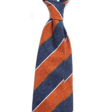 Regimental stripes wool tie